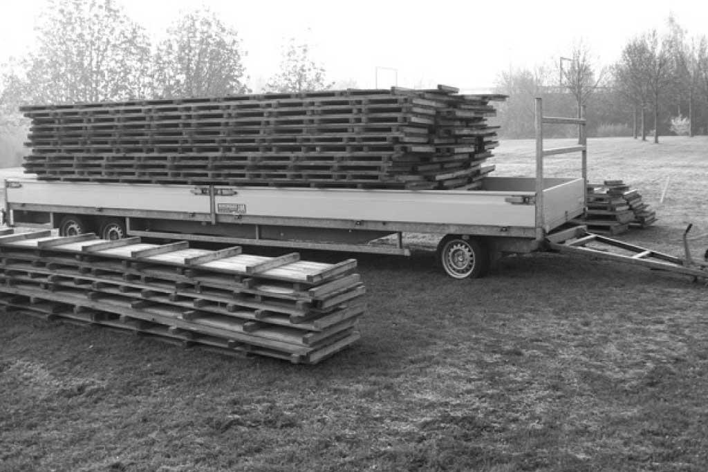 Lot de plancher bois pour l'extérieur ou à installer sous chapiteaux